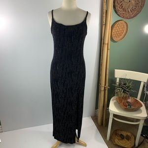 Jody Vintage Women's Black Strap Maxi Dress